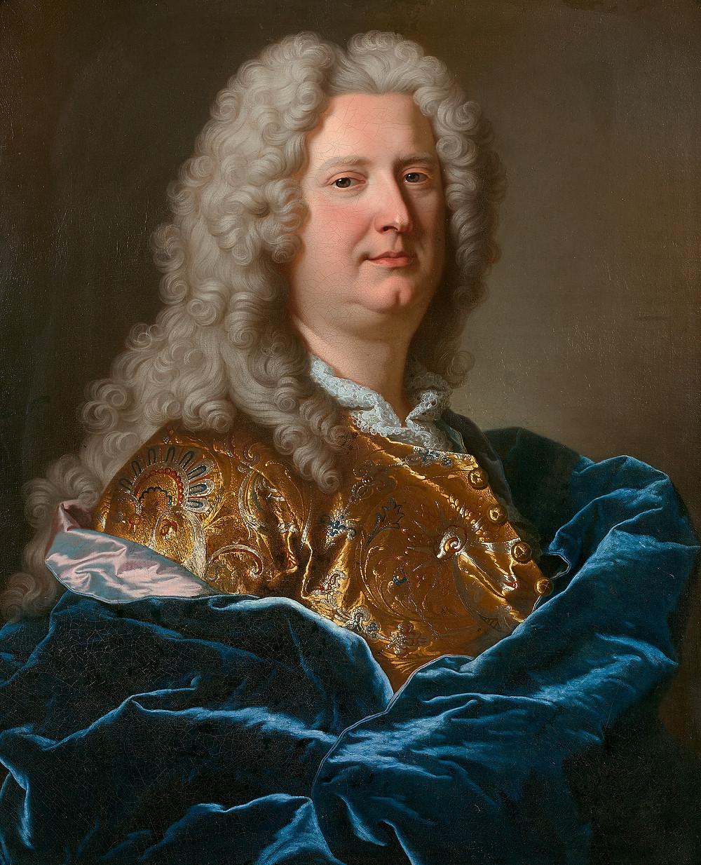 Hyacinthe Rigaud, Portrait d'un homme inconnu, vers 1734, collection particulière