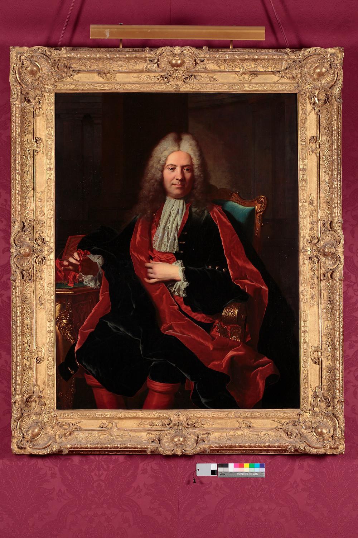 Hyacinthe Rigaud, Portrait de Gérard Michel de La Jonchère, 1721, France, château de Parentignat, collection marquis de Lastic