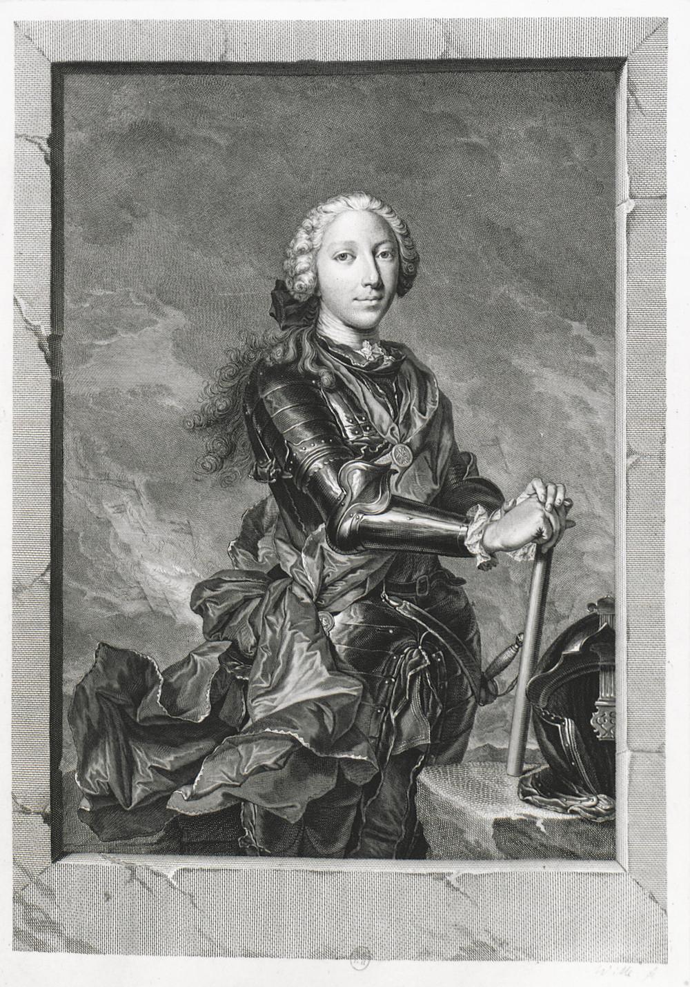 Jean Daullé et Johann Georg Wille, Portrait d'Henri Benoît Marie Clément Stuart, Paris, BnF