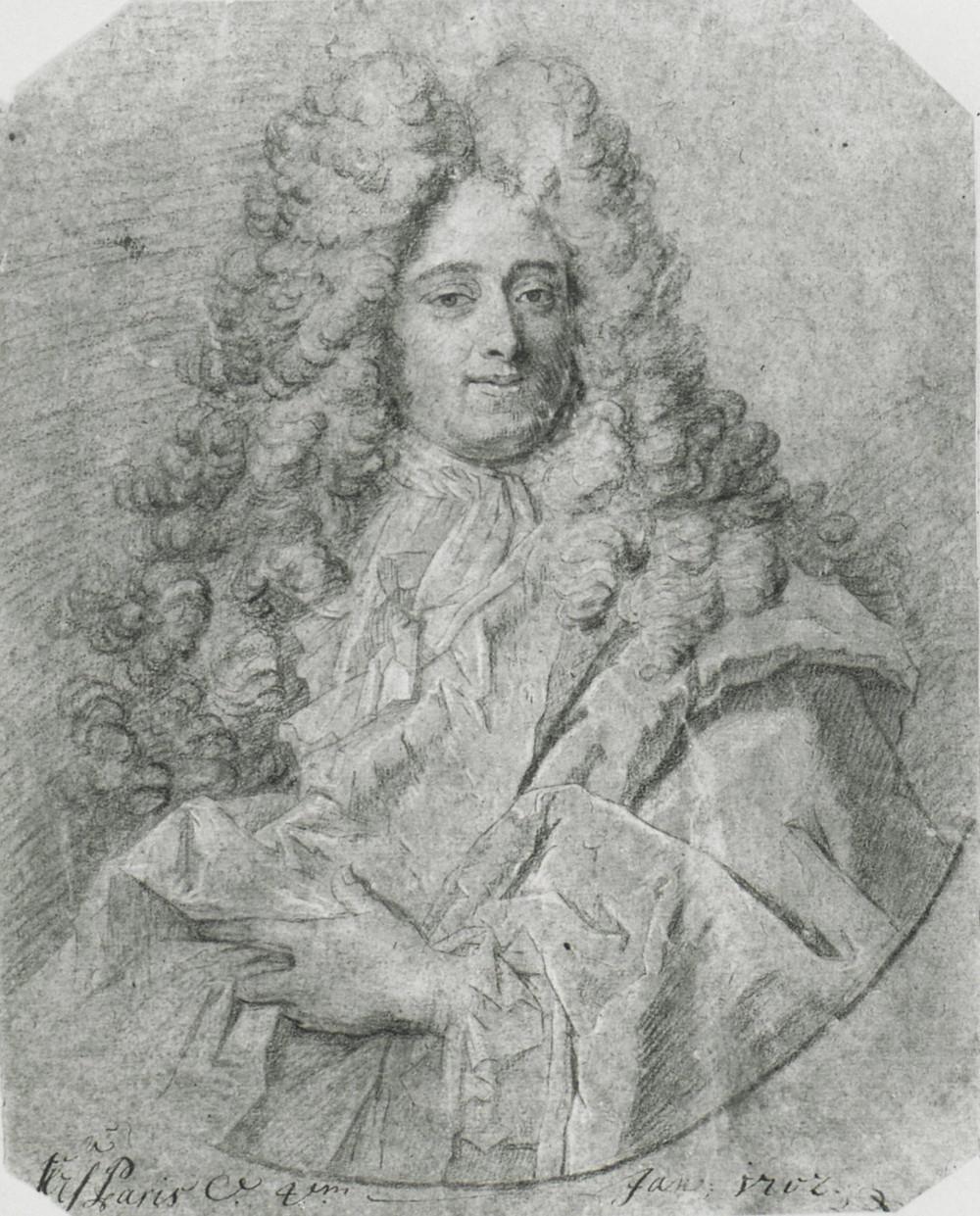 Atelier de Hyacinthe Rigaud, Portrait d'un homme, vers 1695-1700, Lille, Palais des Beaux-Arts, inv. W 3184