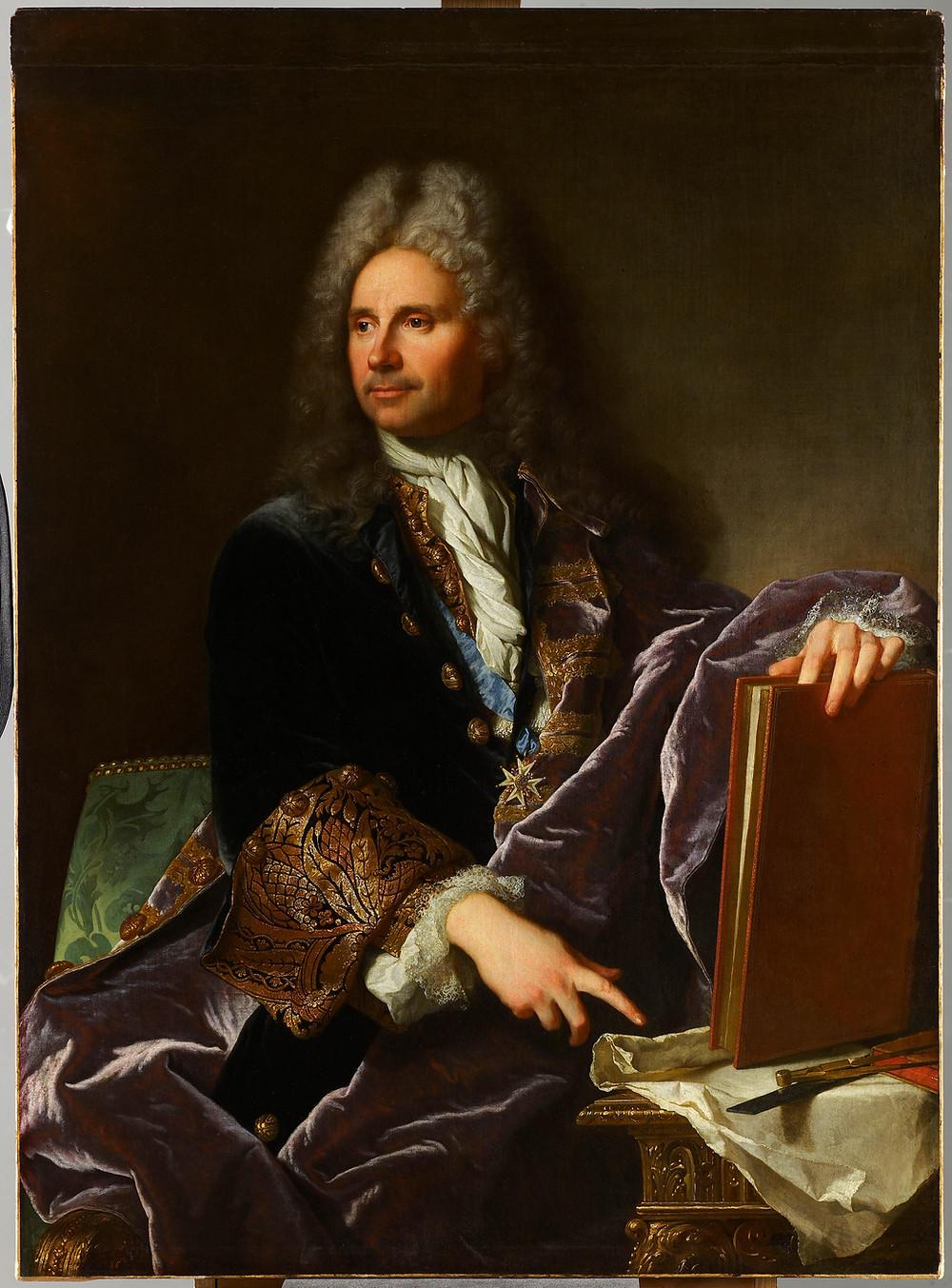 Hyacinthe Rigaud, Portrait de Robert de Cotte, 1713, Paris, musée du Louvre, inv. M.I.232.