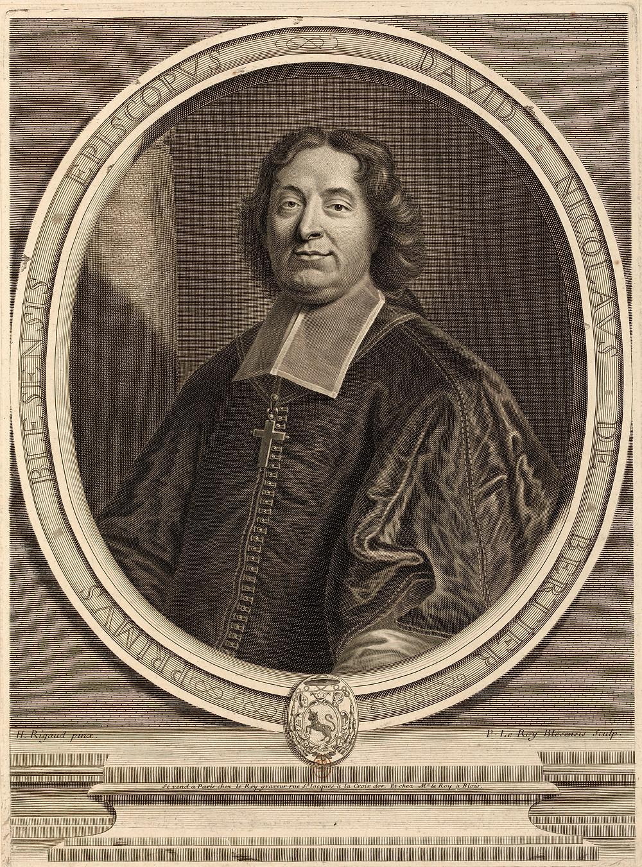 Pierre Le Roy d'après Hyacinthe Rigaud, Portrait de David Nicolas Bertier, évêque de Blois, 1709, Paris, BnF, département des Estampes et de la photographie