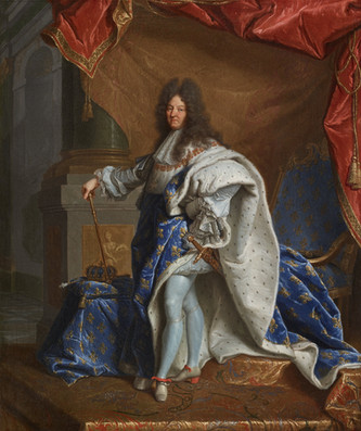 Le modello du portrait de Louis XIV en grand costume royal