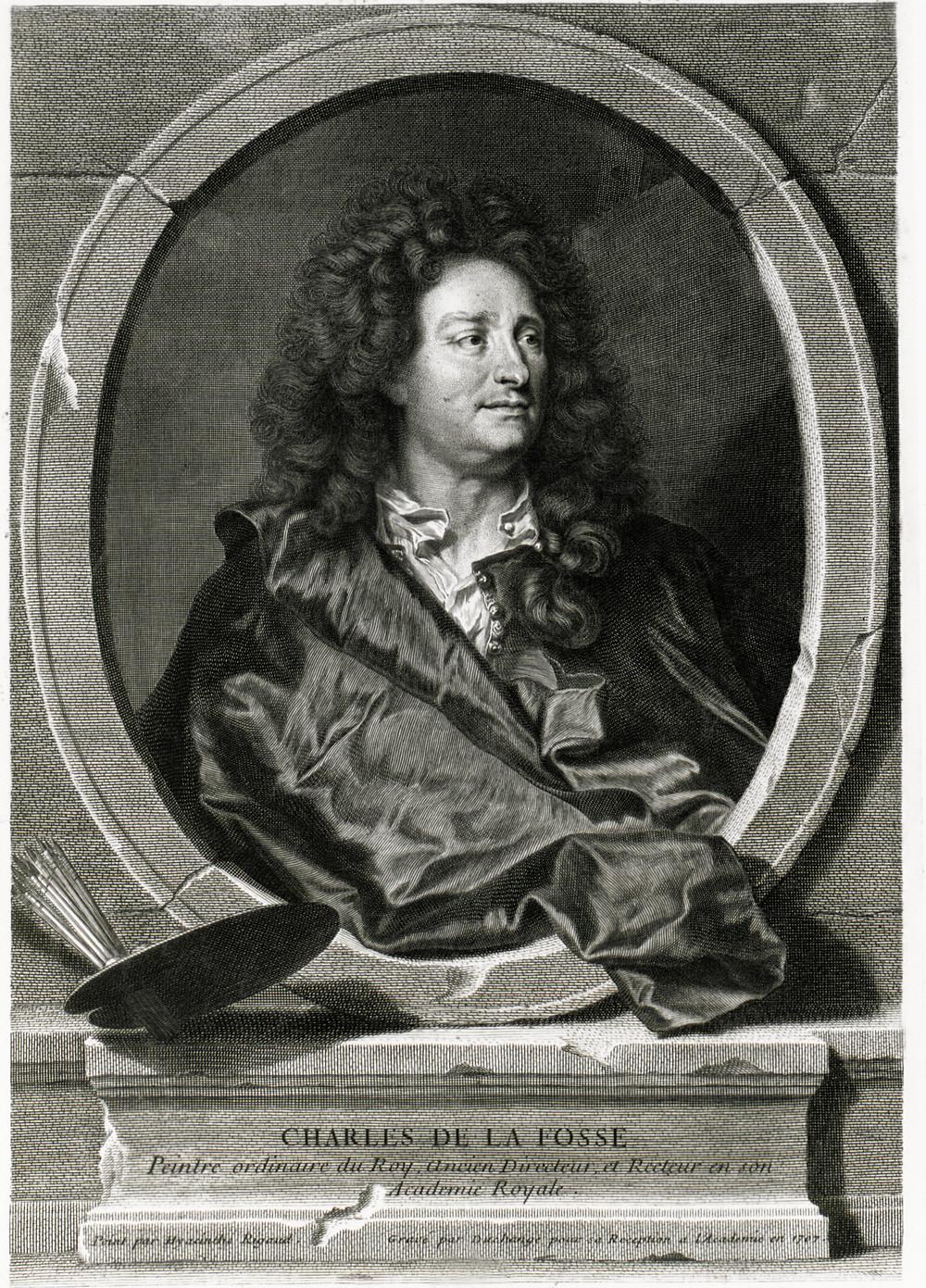 Gaspard Duchange d'après Hyacinthe Rigaud, Portrait de Charles de La Fosse, 1707, Paris, BnF