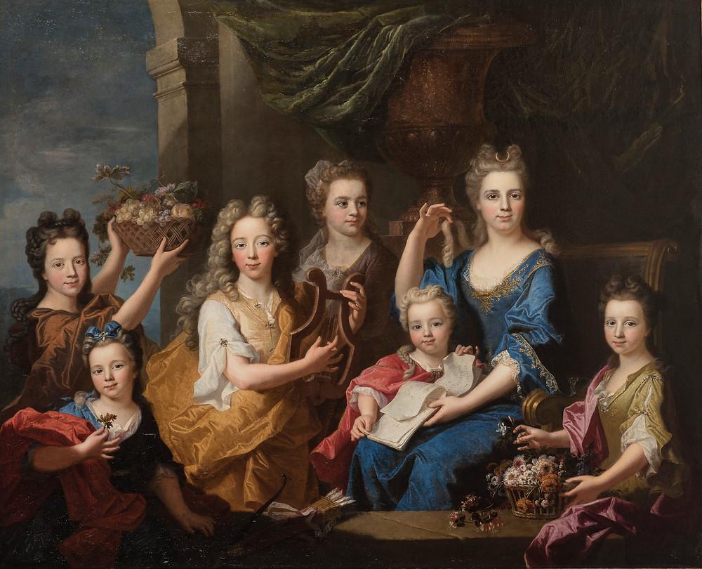 Gaspard Rigaud, avec la participation de Hyacinthe Rigaud, Portrait des enfants de M. Bouette de Blémur, 1703, collection particulière