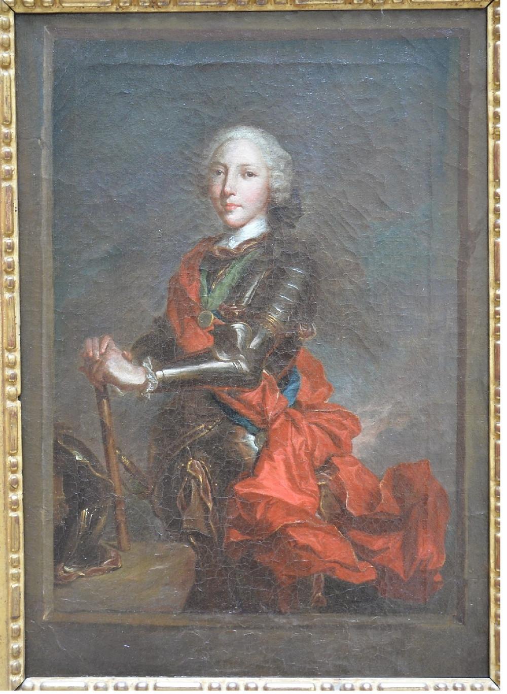 Artiste anonyme d'après Hyacinthe Rigaud, Portrait d'Henri Benoît Marie Clément Stuart, après 1740-1743, localisation actuelle inconnue