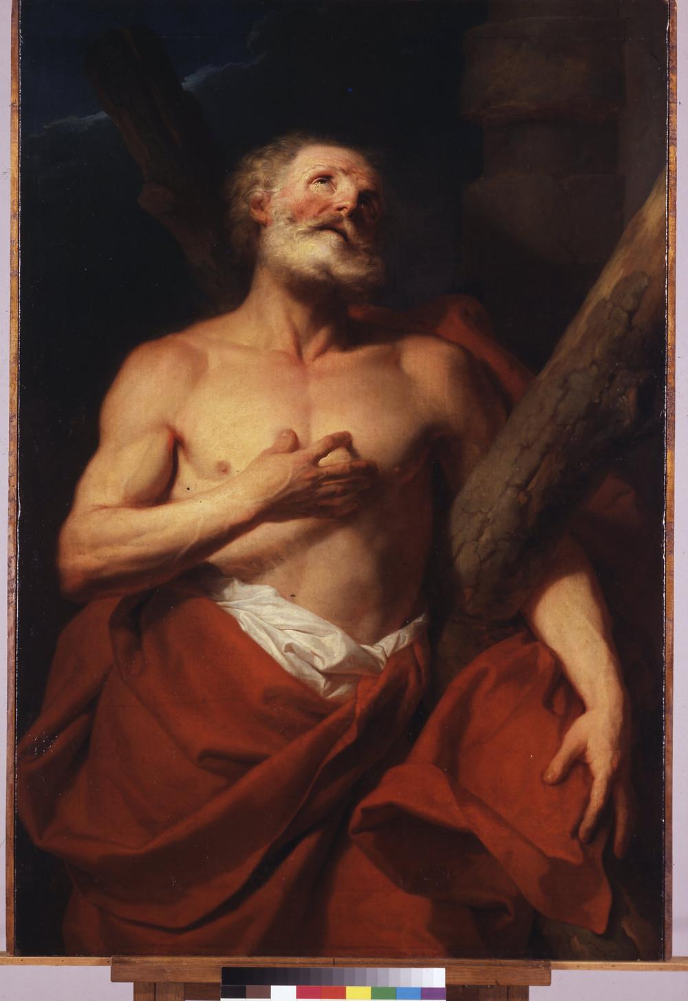 Hyacinthe Rigaud, Saint André, avant 1742, Paris, Ecole nationale supérieure des Beaux-Arts, inv. MRA 103 / MU 2624