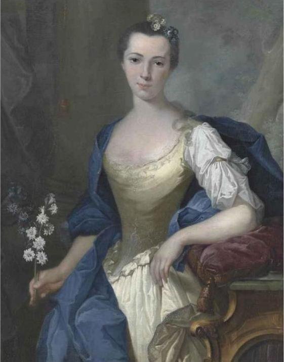 Joachim Rupalley, Portrait de jeune femme inconnue, 1760, collection particulière