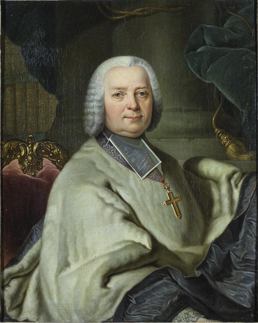 Joachim Rupalley, Portrait de Pierre Jules César de Rochechouart-Montigny, évêque de Bayeux, entre 1753 et 1764, Orléans, musée des Beaux-Arts, inv. 990