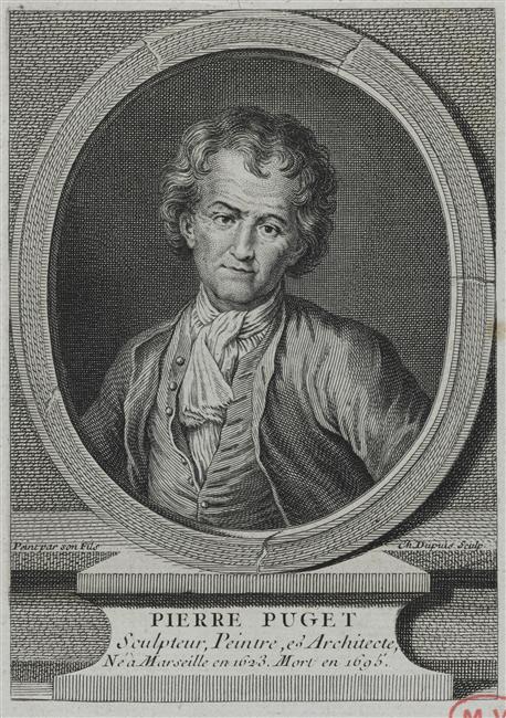 Charles Dupuis d'après François Puget, Portrait du sculpteur Pierre Puget, Versailles, musée national du Château et des Trianons