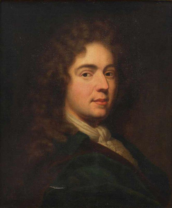 Anonyme d'après Hyacinthe Rigaud, Portrait de Monsieur Sarazin, après 1685, collection particulière