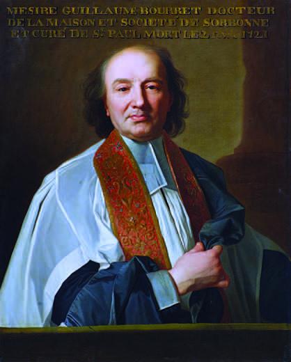 Anonyme d'après Hyacinthe Rigaud, Portrait de Guillaume Bourret, après 1715, Paris, église Saint-Paul-Saint-Louis, inv. PM 75001162