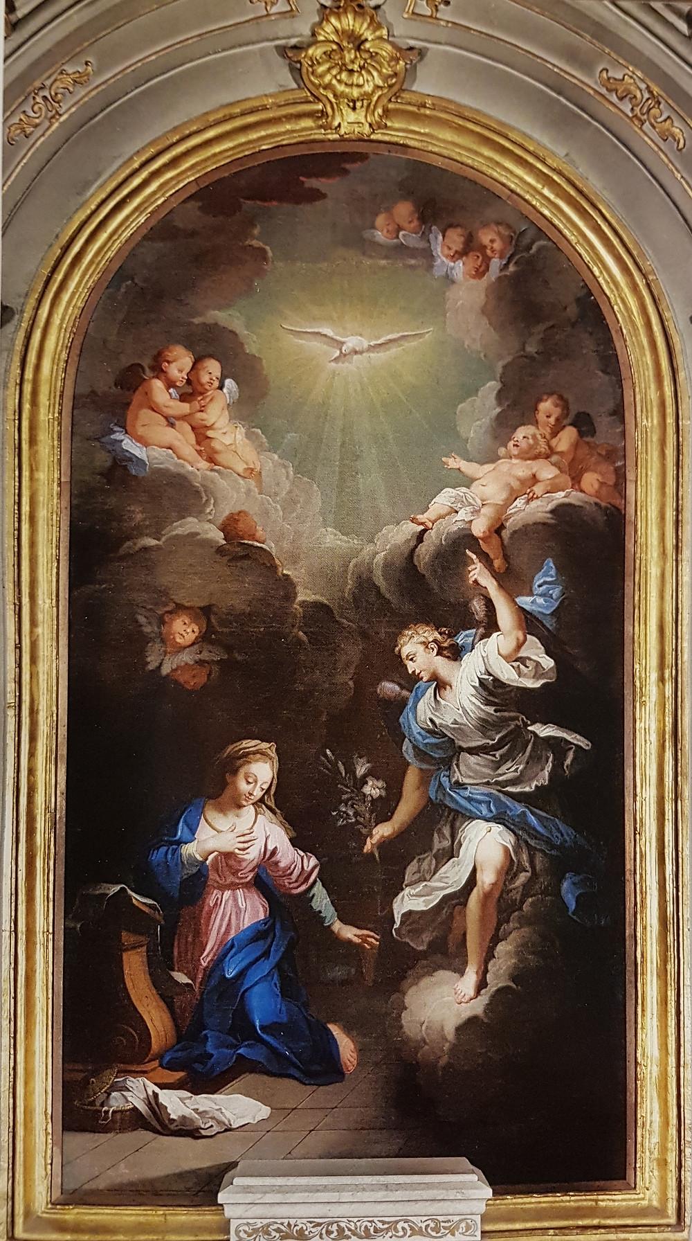 Joachim Rupalley, L'Annonciation, 1761 ?, Asnelles, église paroissiale Saint-Martin