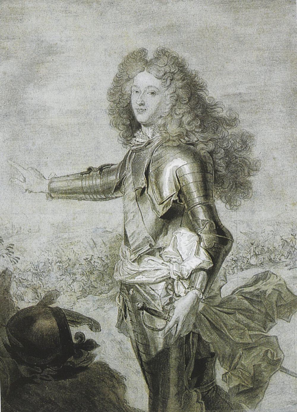 Hyacinthe Rigaud et B. Monmorency, Portrait du duc de Bourgogne, 1707 (?), Paris, collection Prat