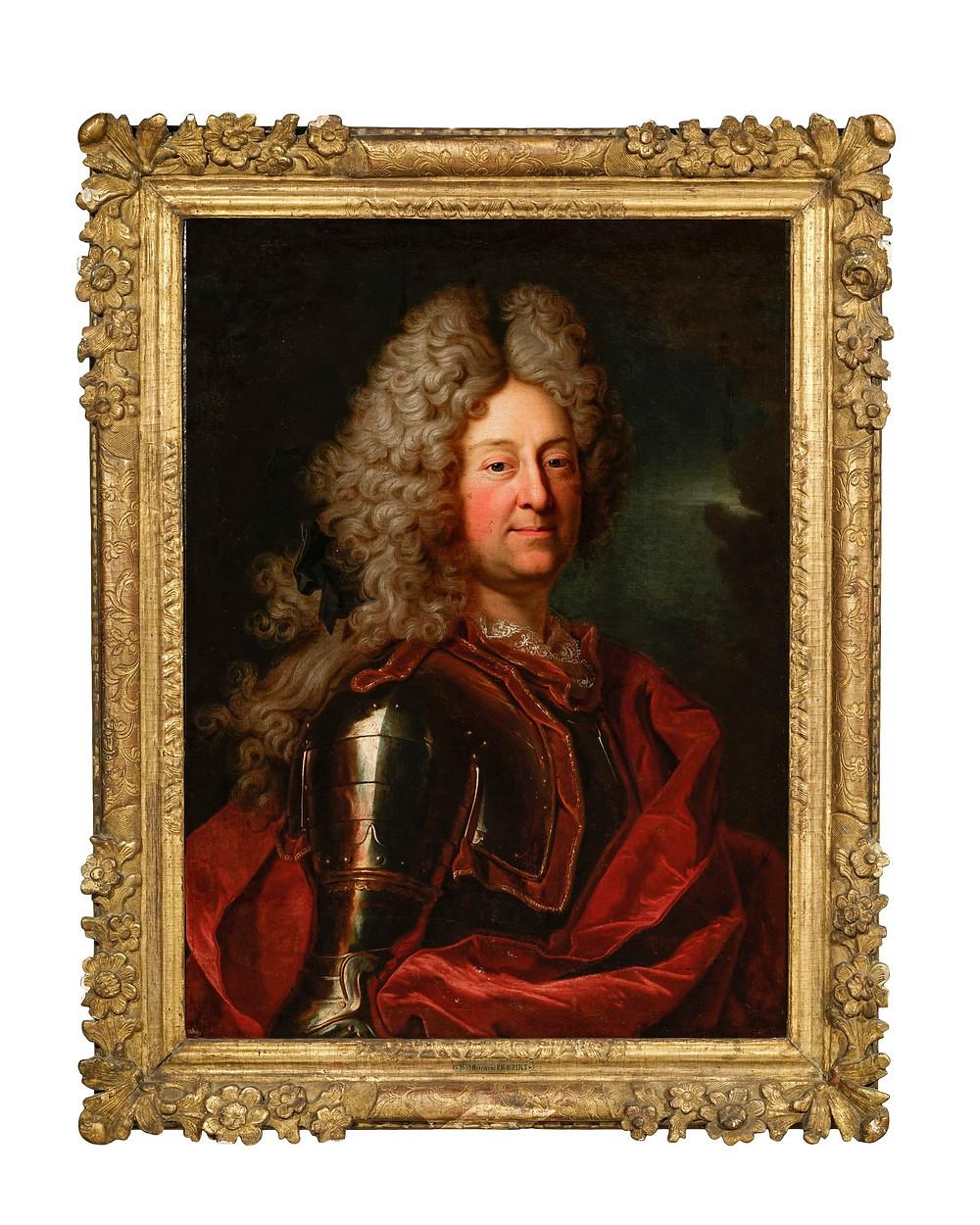 Hyacinthe Rigaud et atelier ou Atelier de Hyacinthe Rigaud, Portrait d'Henri, duc d'Harcourt, 1697-1705, collection particulière