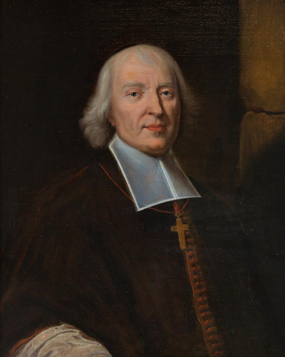 Anonyme d'après Hyacinthe Rigaud, Portrait de Jacques Bénigne Bossuet, évêque de Meaux, après 1698, collection particulière