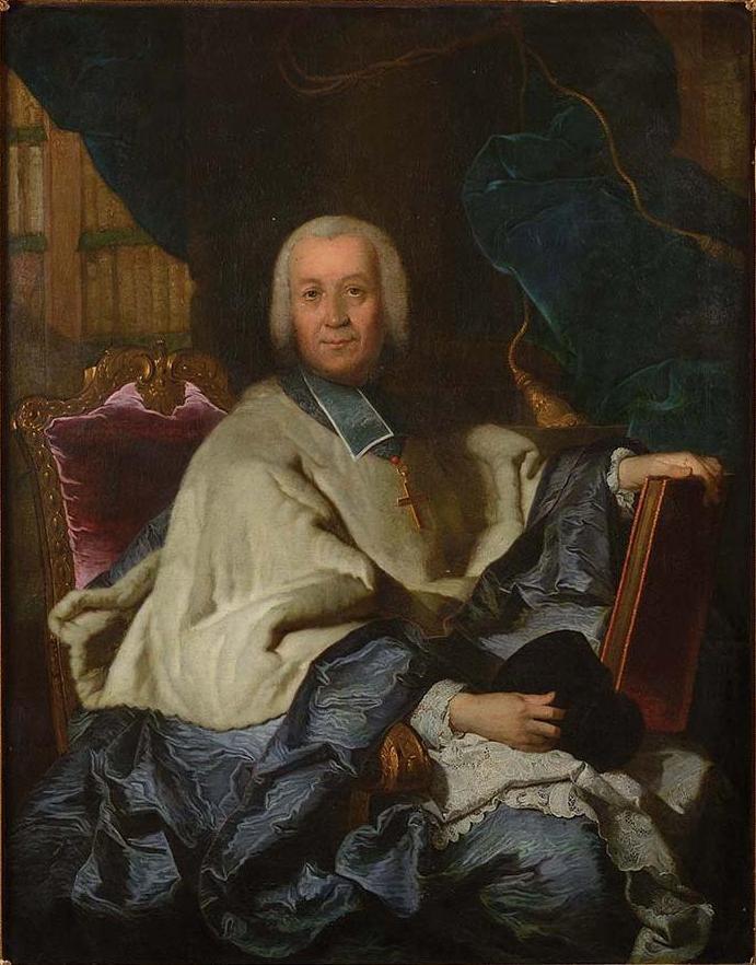 Attribué à Joachim Rupalley, Portrait de Pierre Jules César de Rochechouart-Montigny, évêque de Bayeux,collection particulière