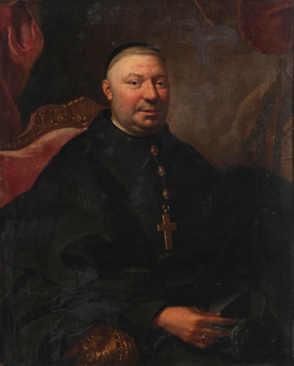 Anonyme, Portrait d'un abbé, collection particulière