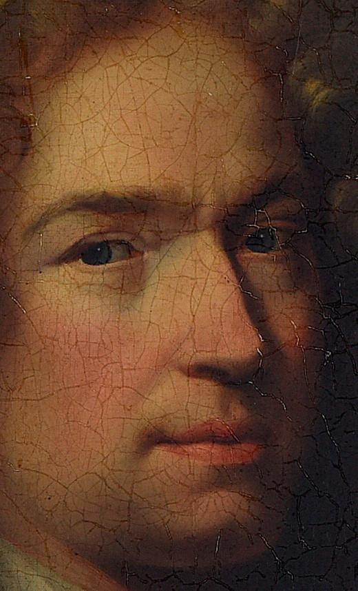 Hyacinthe Rigaud, Portrait d'homme inconnu (détail), vers 1681-1685, collection particulière