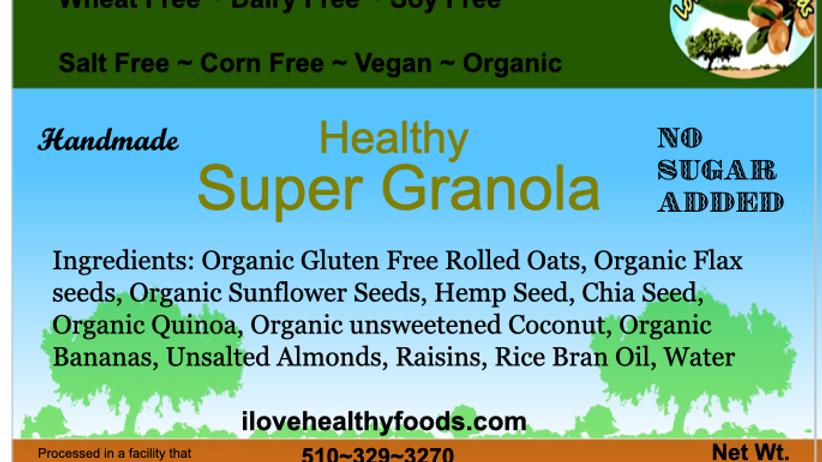 Super Granola No Sugar Added