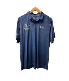 Mens UA Blue Polo (Textured)