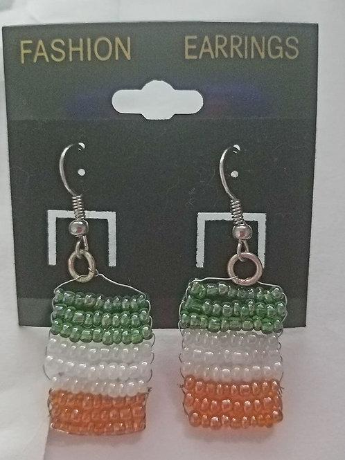 ittaly flag earrings