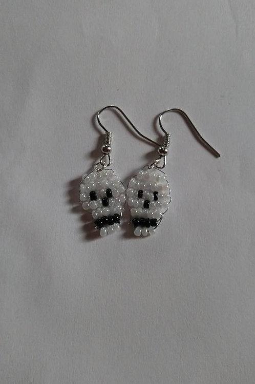 skull head earrings