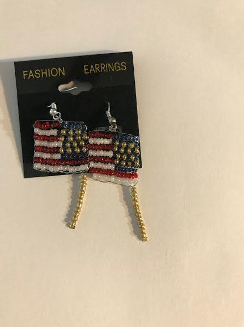 flags earrings