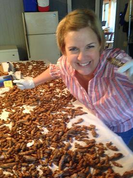 Janell with New Batch of Turmeric Rhizom