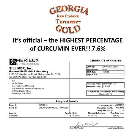Curcumin Results for GA Gold - Dec 2019.