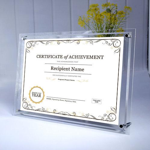 Acrylic frame, A4 acrylic frame, bevel edge acrylic frame, sandwich frame, high quality frame, clear acrylic