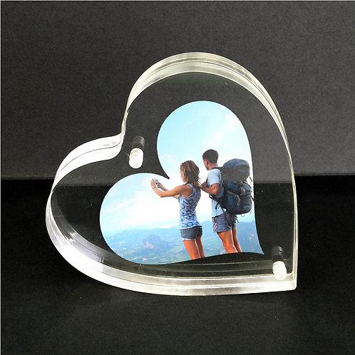 Heart shape acrylic frame, thick acrylic frame, cheap frame, high quality acrylic, heart frame, gift acrylic, block frame