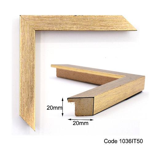 GM Gold finish wooden frame