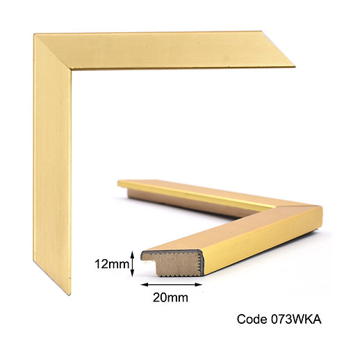 GM Gold finish wooden frame flat surface