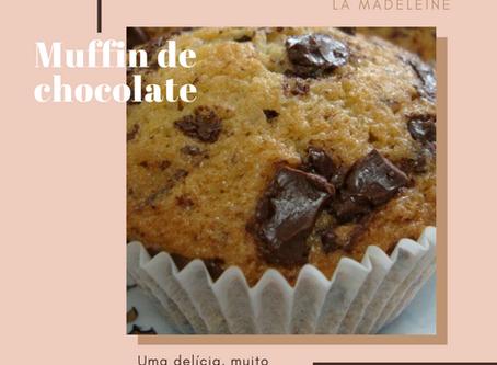 Receita de muffin de chocolate!