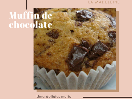 Receita de muffin de chocolate!