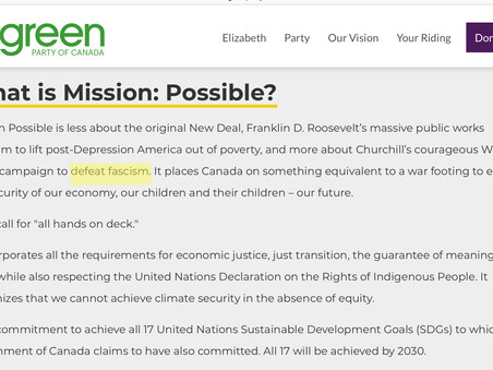 Mission: Possible… but not probable - Green Party's 2019 Climate Platform
