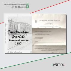 Estrato di Nascita | Comune di San Giovanni Lupatoto-Prov.Verona