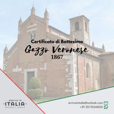 Certificato di Battesimo | Parrocchia Gazzo Veronese-Prov.Verona