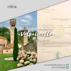 Certificato di Battesimo | Parrocchia di Valpolicella-Prov.Verona