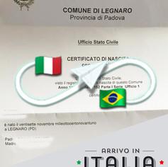 Estratto di Nascita   Comune di Legnaro - Prov. Padova