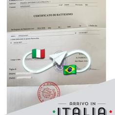 Certificato di Battesimo   Parrocchia di Stezzano - Prov.Bergamo
