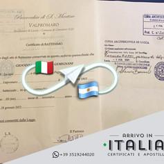 Certificato di Battesimo | Camaiore - Prov.Lucca