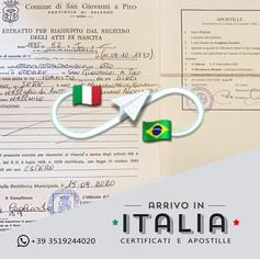 Estratto di Nascita   Comune di San Giovanni a Piro - Prov.Salerno