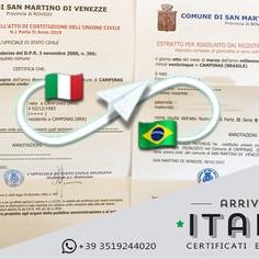 Estratto di Nascita e Matrimonio   Comune di San Martino di Venezze - Prov.Rovigo