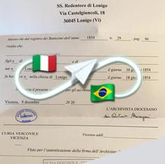 Certificato di Battesimo   Parrocchia di Lonigo - Prov.Vicenza