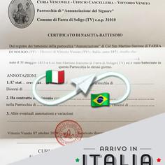 Certificato di Battesimo   Parrocchia di Farra di Soligo - Prov.Treviso