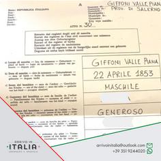 Estratto di Nascita | Comune di Giffoni Valle Piana-Prov di Salerno