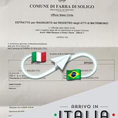 Estrato di Matrimonio   Comune di Farra di Soligo - Prov.Treviso