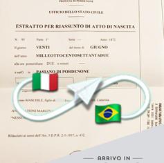 Estratto di Nascita   Comune di Pasiano di Pordenone - Prov.Pordenone